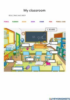 Interactive worksheet My classroom object