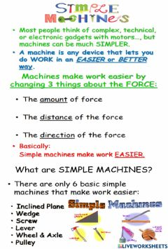 Interactive worksheet Simple Machines Notes