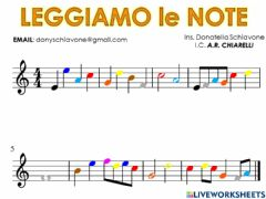 Interactive worksheet Note colorate