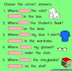 Interactive worksheet Where is-are questions