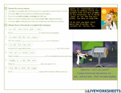 Interactive worksheet Such and so