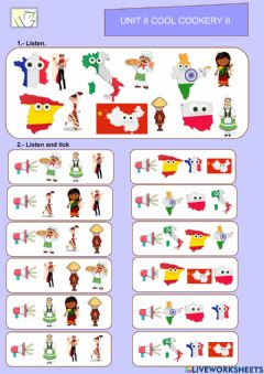 Interactive worksheet Unit 8 Cool cookery Vocabulary II