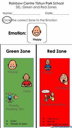 Interactive worksheet SE Green and Red Zone