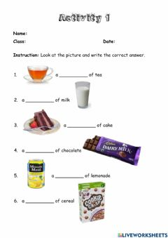 Interactive worksheet Module 5: Eating Right - Our World