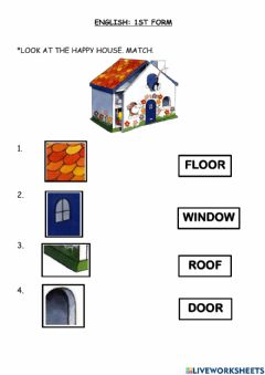 Interactive worksheet The Happy House Song