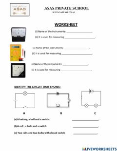 Interactive worksheet Electrical circuits