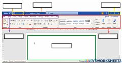 Interactive worksheet Microsoft Word Sections