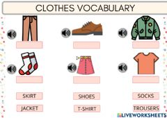 Interactive worksheet CLOTHES vocabuary
