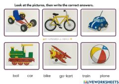 Interactive worksheet Toys- Let's Play!