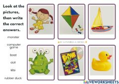 Interactive worksheet Unit 2 Let's Play!- Toys
