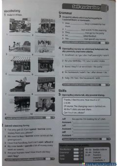 Interactive worksheet shopping selfevaluation