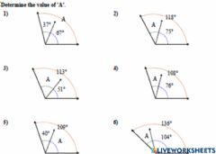 Interactive worksheet Finding Missing Angle