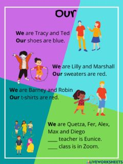 Interactive worksheet Our and their