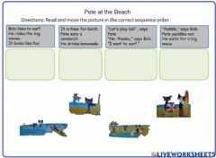 Ficha interactiva Reading with Pete the CAT