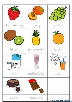 Interactive worksheet Vocabulary about food