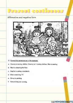 Interactive worksheet Present Continuous