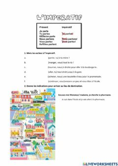 Interactive worksheet Indiquer le chemin