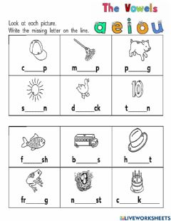 Interactive worksheet The vowels