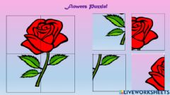 Interactive worksheet Flower Puzzles
