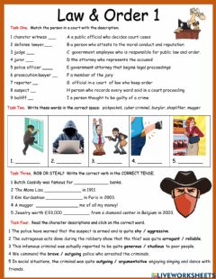 Interactive worksheet Law and Order 1