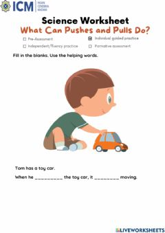 Interactive worksheet What pushes and pulls do?