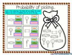 Interactive worksheet Probability candy