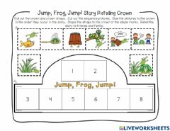Interactive worksheet Jump Frog Jump