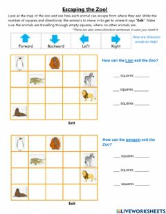 Interactive worksheet How to Escape the Zoo