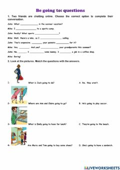 Interactive worksheet Be going to: questions
