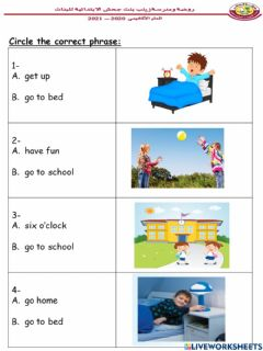 Interactive worksheet Read and choose the correct word