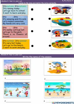 Interactive worksheet Module 4 Year in, year out
