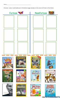 Interactive worksheet Fiction and nonfiction