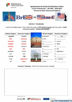 Interactive worksheet BrE VS AmE - the importance of being fluent in English