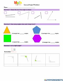 Ficha interactiva Lines and Angles