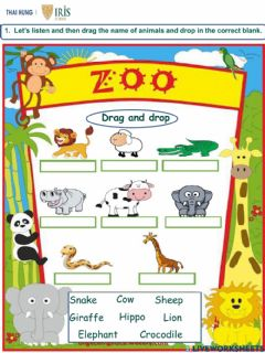 Interactive worksheet Worksheet about Animals for Kids