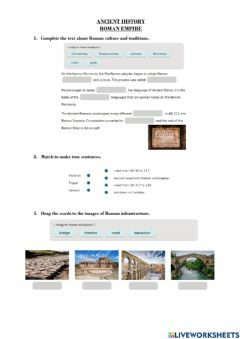 Interactive worksheet Ancient Rome