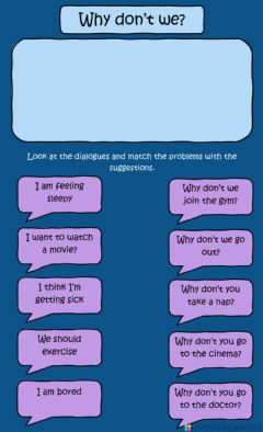 Interactive worksheet Why don't we?