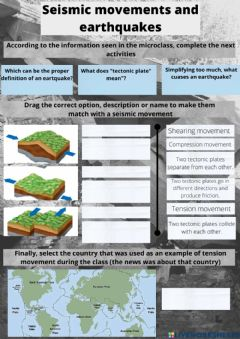 Interactive worksheet Seismic movements and earthquakes