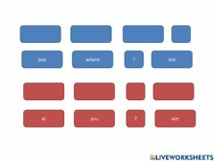 Interactive worksheet Where are you