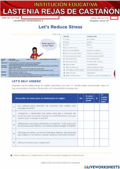 Interactive worksheet challege 1 - let's reduce stress  02
