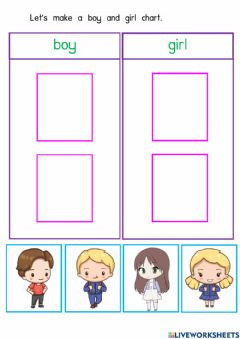 Interactive worksheet Boy and Girl