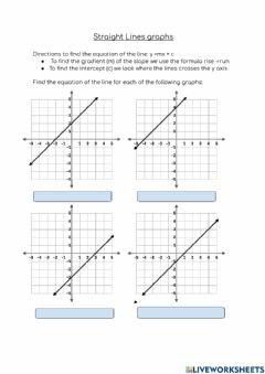 Interactive worksheet Straight line graphs and simultaneous equations