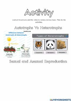 Interactive worksheet Sexual and asexual