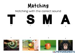 Interactive worksheet Matching with the correct sound
