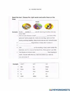 Interactive worksheet Reading movers