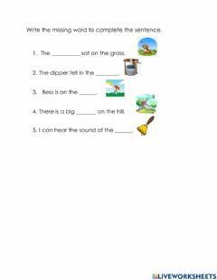 Interactive worksheet Words with ss, ll, pp