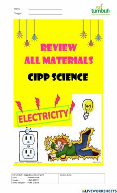 Interactive worksheet Review All Materials CIPP Science