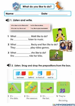 Interactive worksheet What do you like to do?