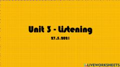 Interactive worksheet UNIT 3 - Listening (Pulse 2 - page 34)