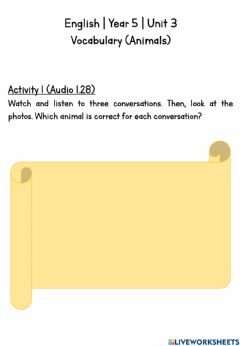 Interactive worksheet CEFR Year 5 -- Unit 3 -- English Plus 1 -- page 32 & 33